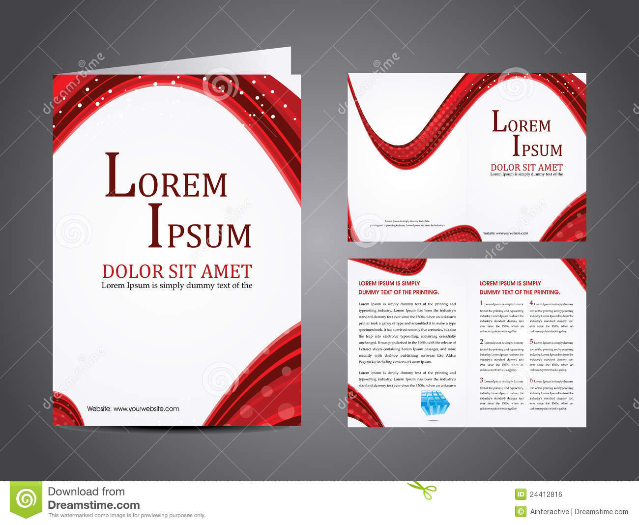Vector business brochure stock vector illustration of catalog download comp accmission Gallery