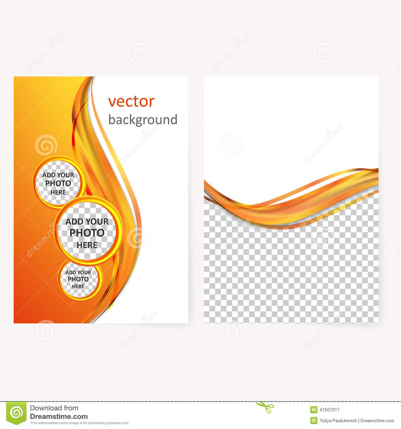 vector business brochure flyer template abstract blur