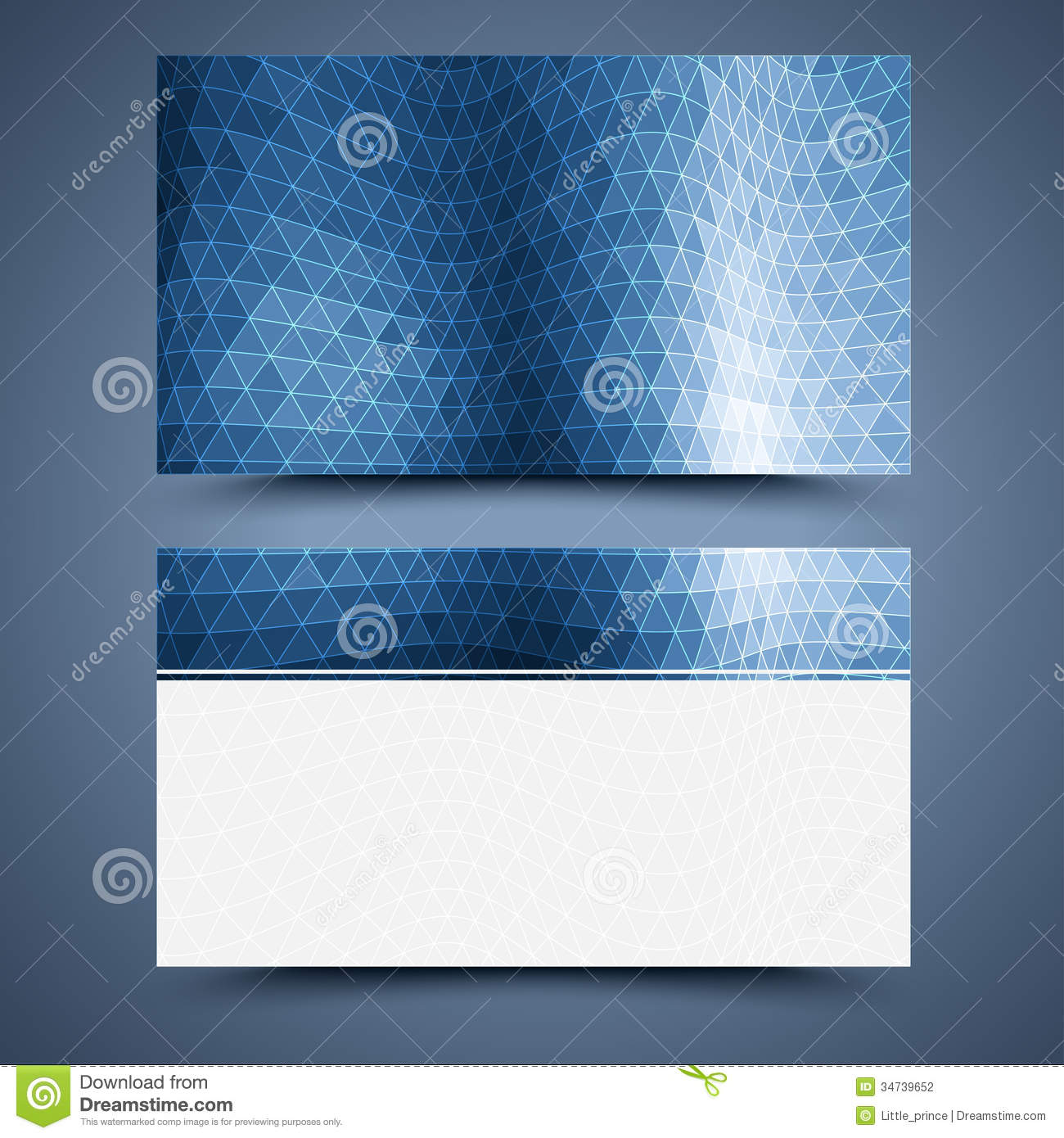 Blue business card template abstract background stock vector blue business card template abstract background flashek