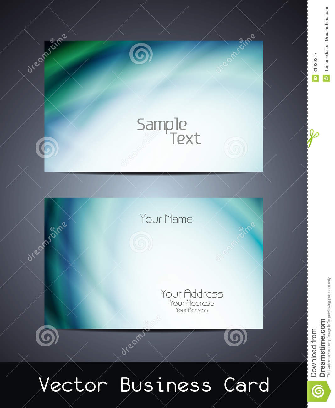Vector Business Card Design Stock Vector - Illustration of blank ...
