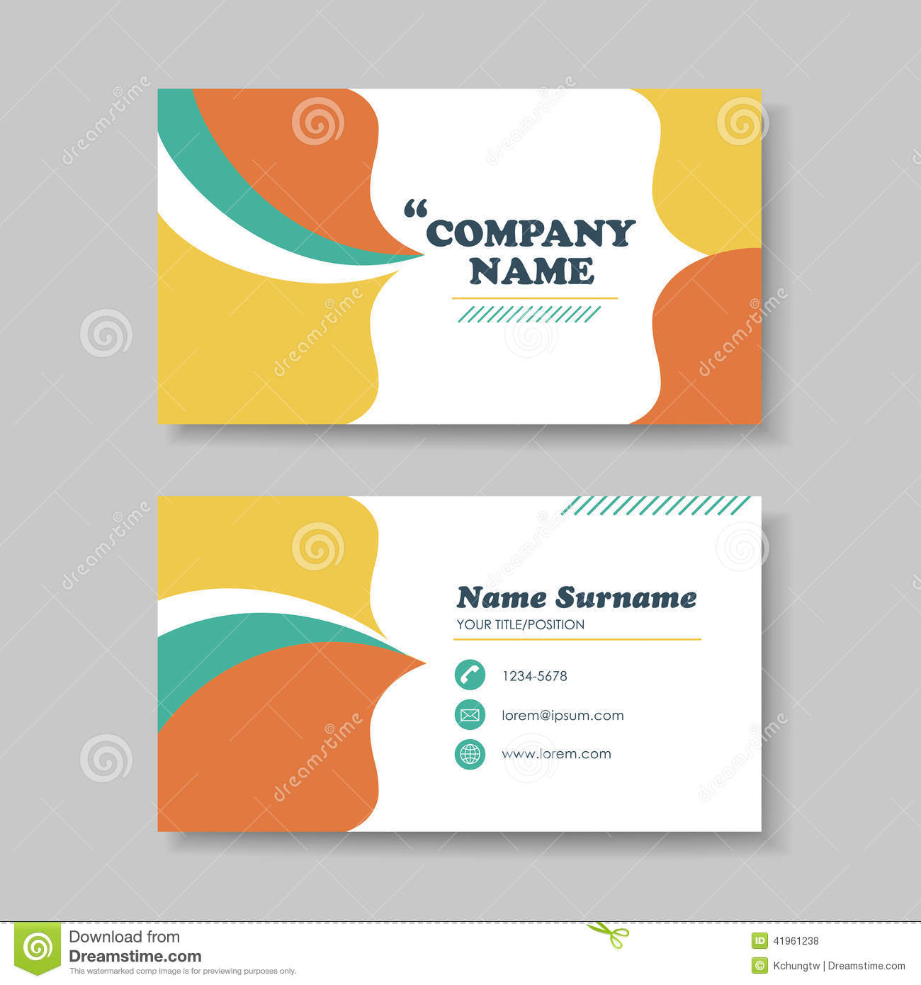 Free vector business card templates business card design for Business card eps template
