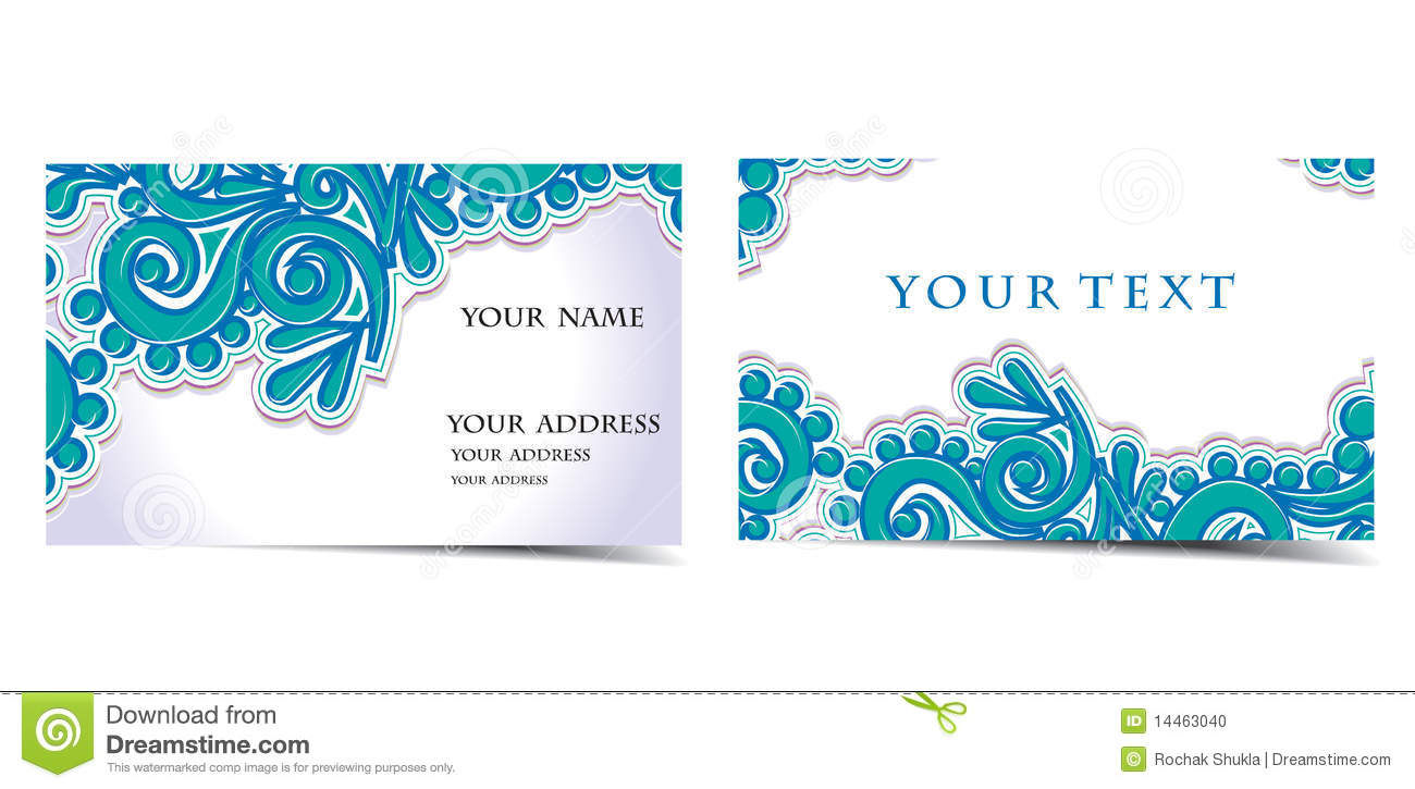 Vector Business Card Set Stock Photo - Image: 14463040