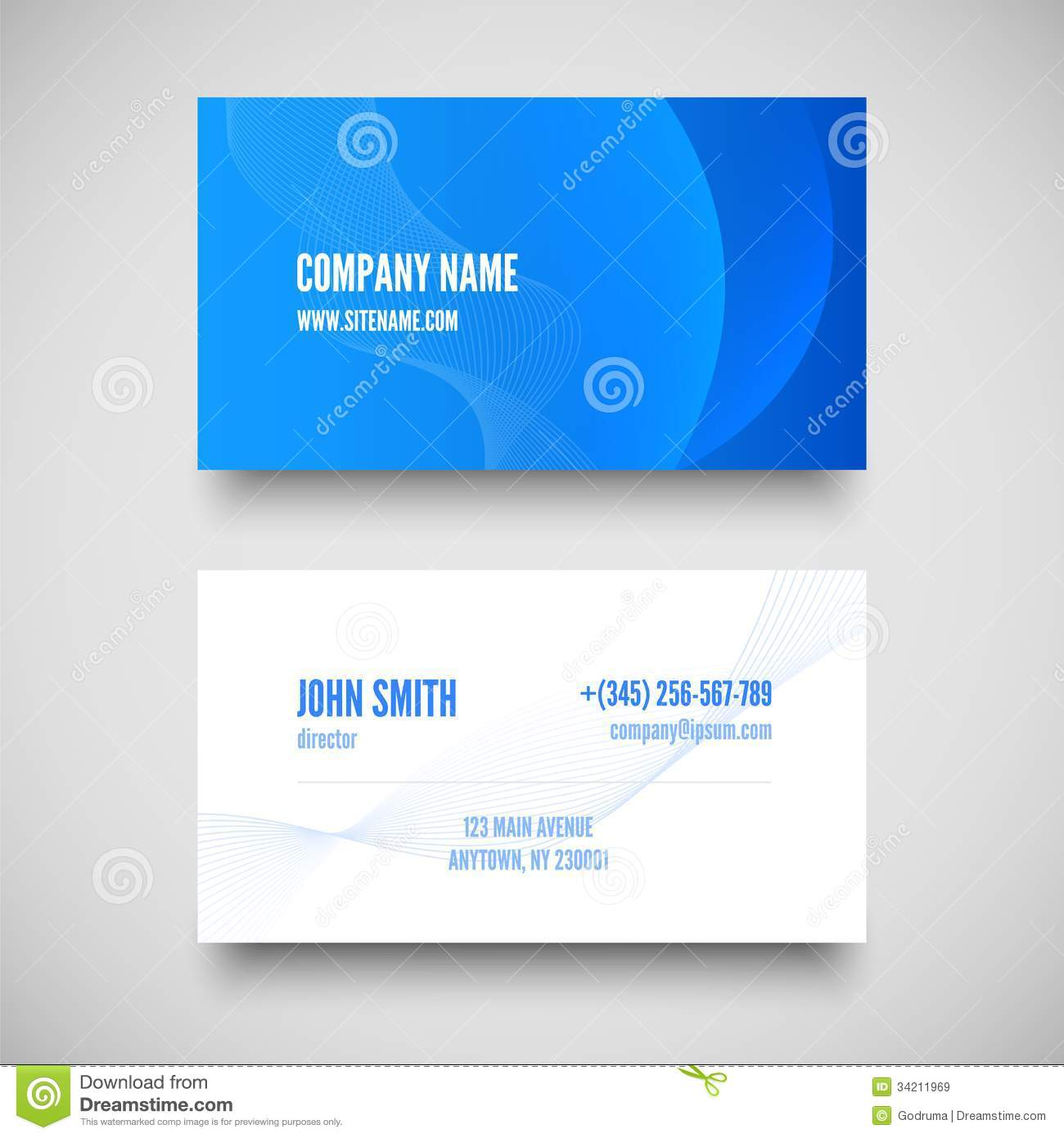 vector business card set elements for design stock vector