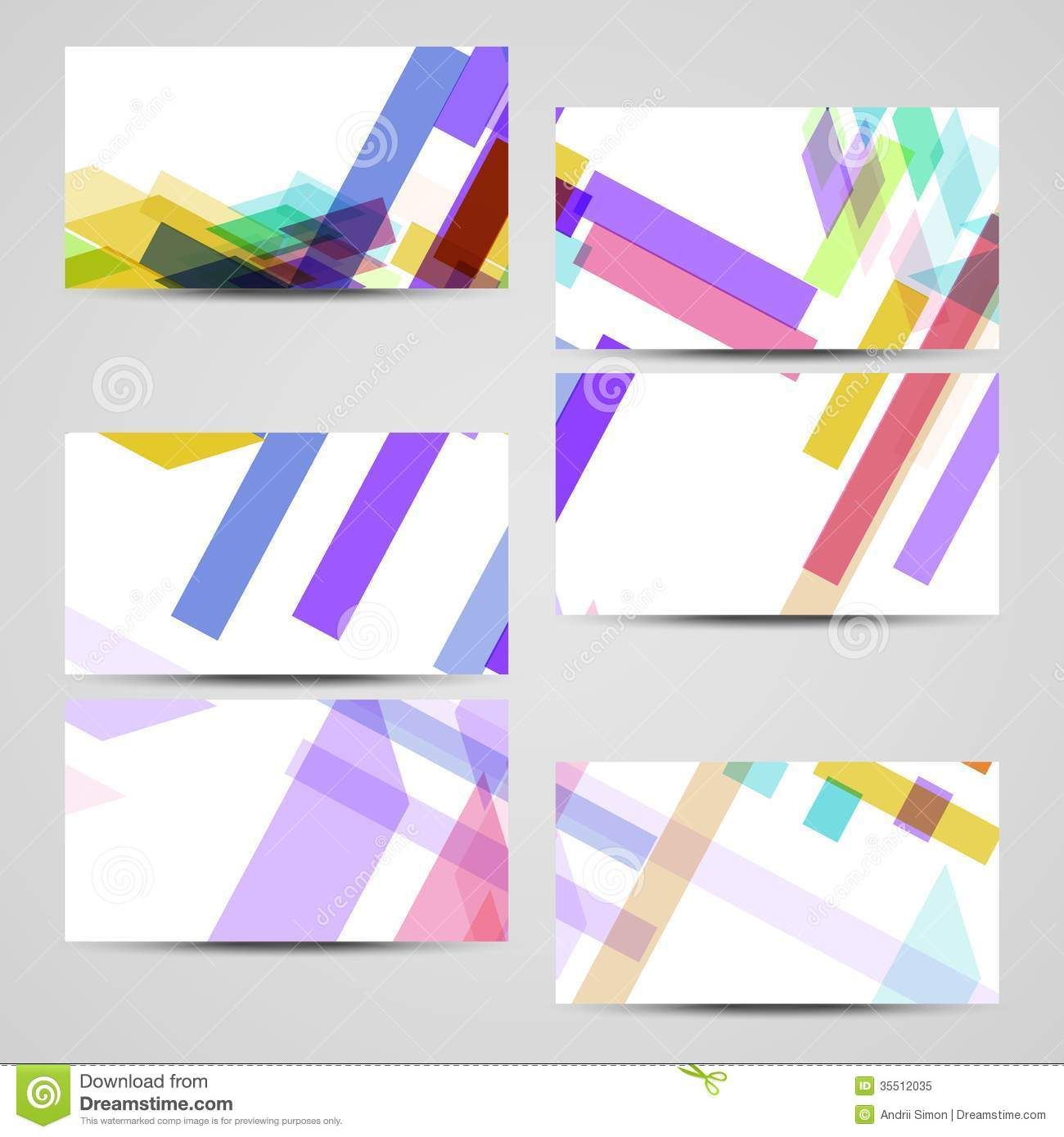 vector business card set for your design stock illustration
