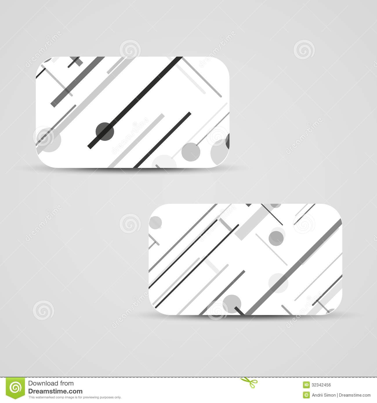 Circuit Board Vector Illustration Royalty Free Stock Image Green Business Card Set For Your Design