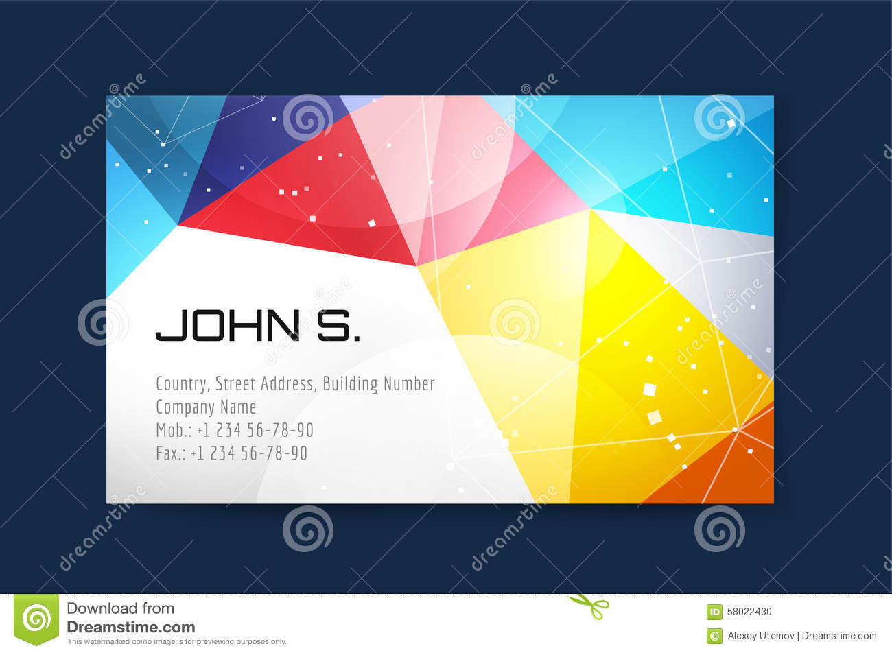 Vector business card template globe and ring logo stock vector download comp reheart Images