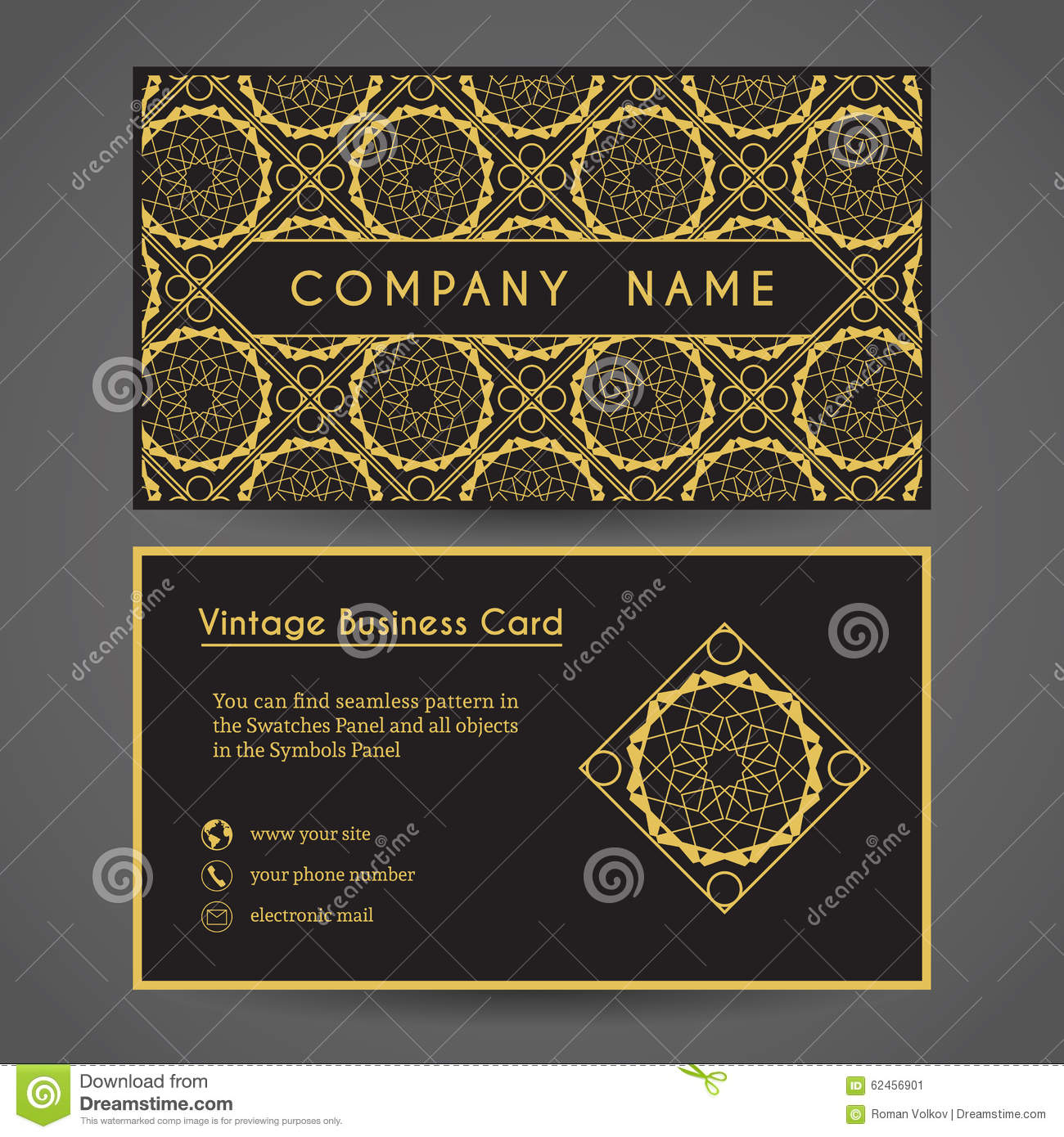 Vector Business Card Template Stock Vector - Illustration of company ...