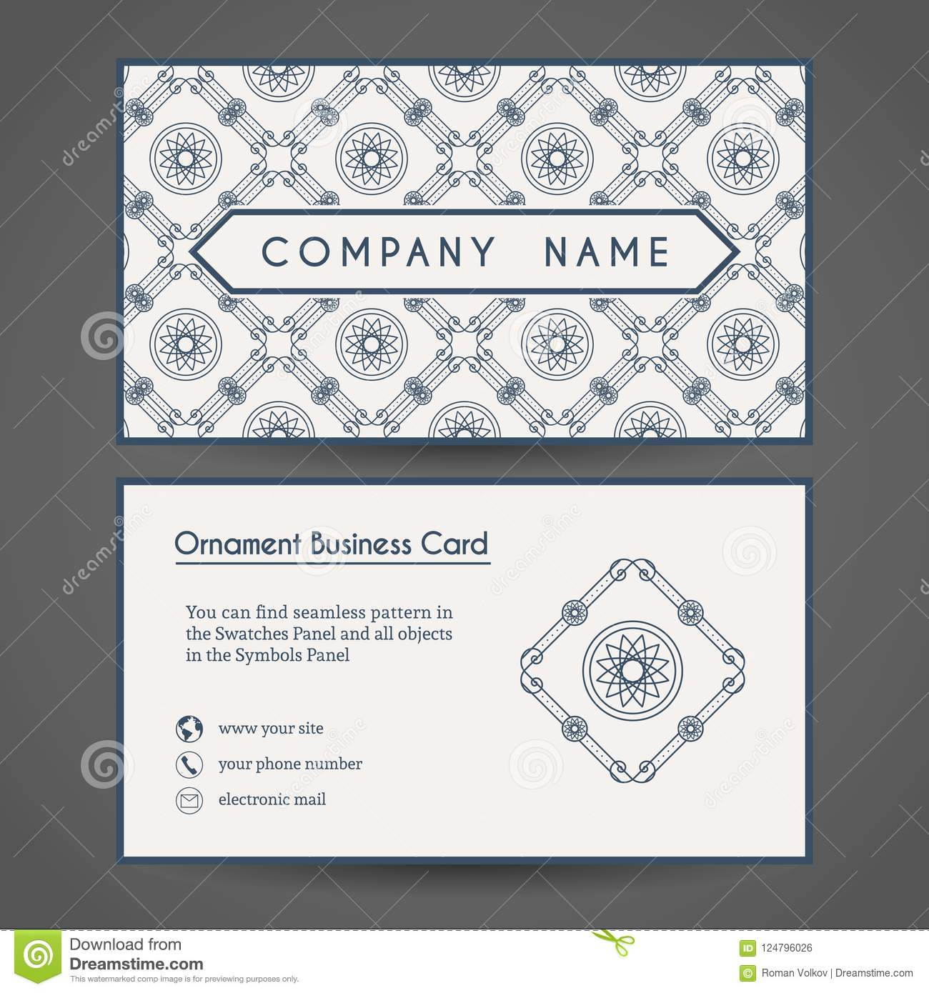 vector business card template stock vector illustration of company
