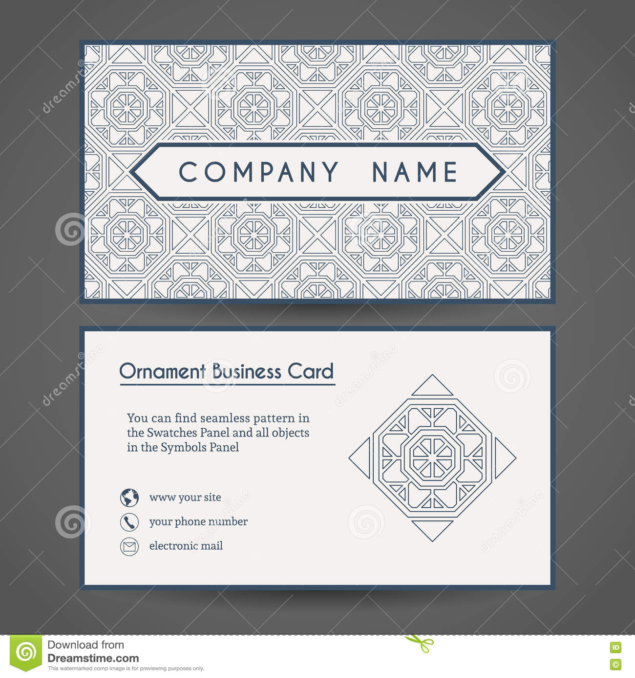 Vector Business Card Template Stock Vector - Illustration of ...
