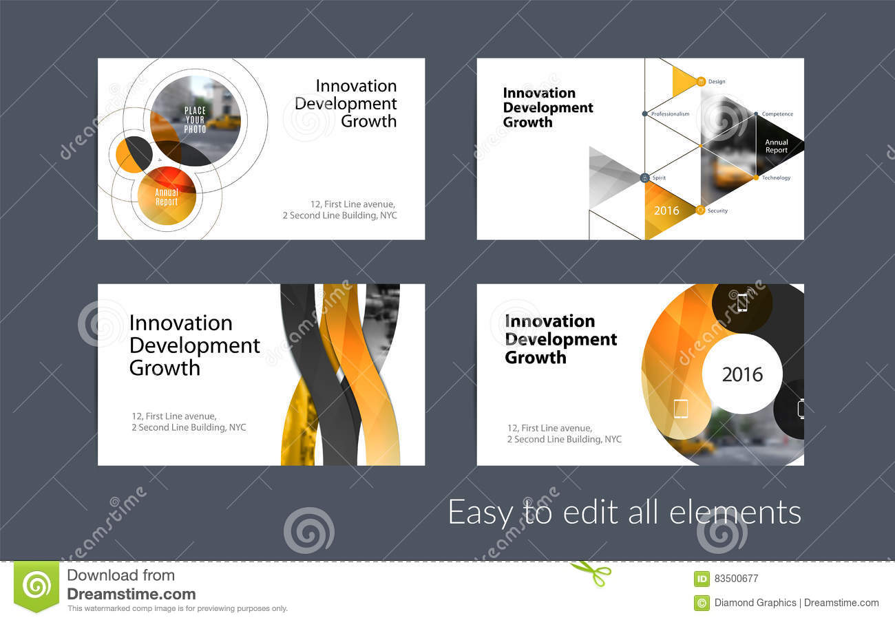 Vector business card template with yellow soft shapes rounds stock download comp reheart Images