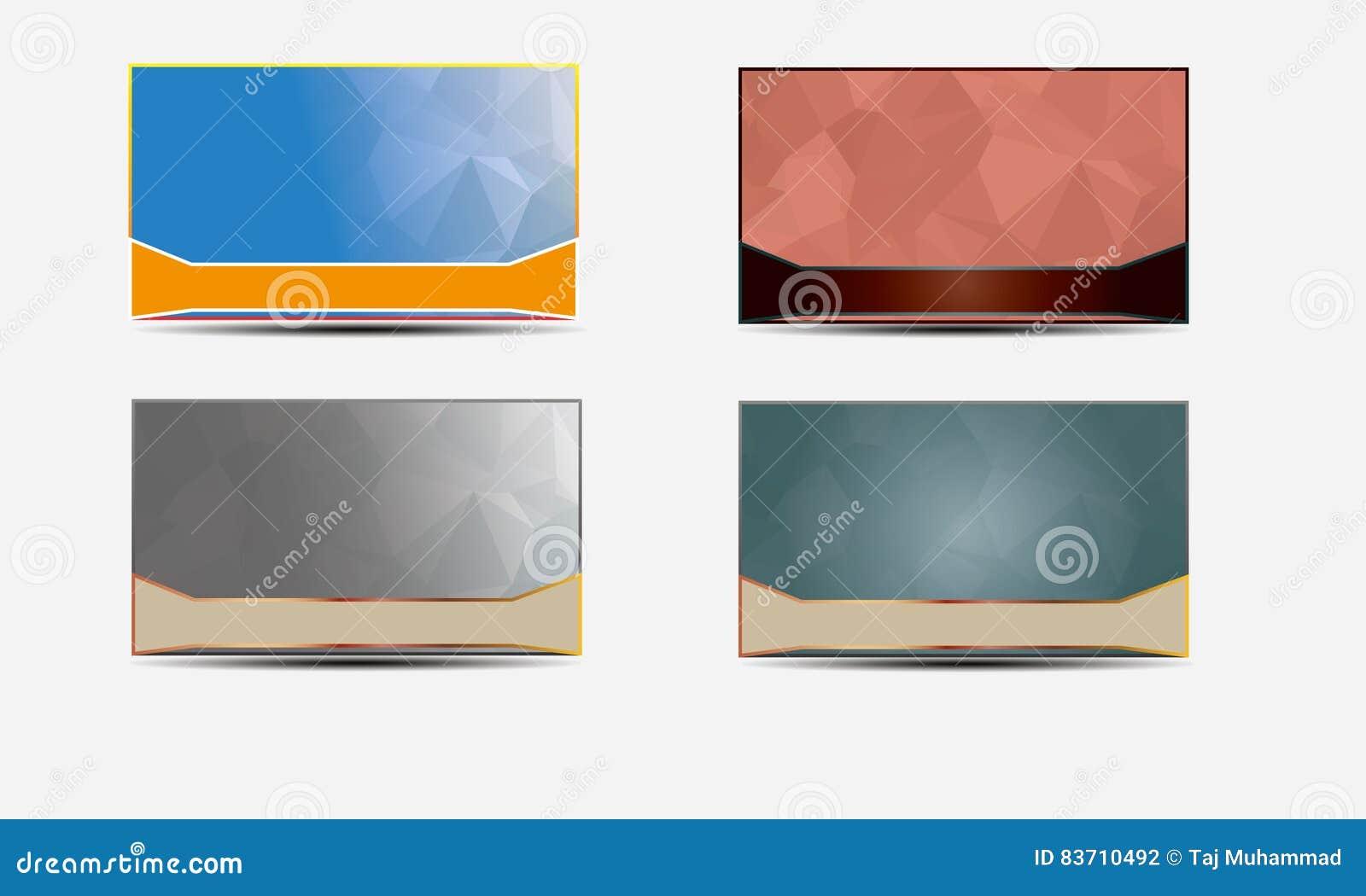 Vector Business Card Templates Polygonal Stock Illustration