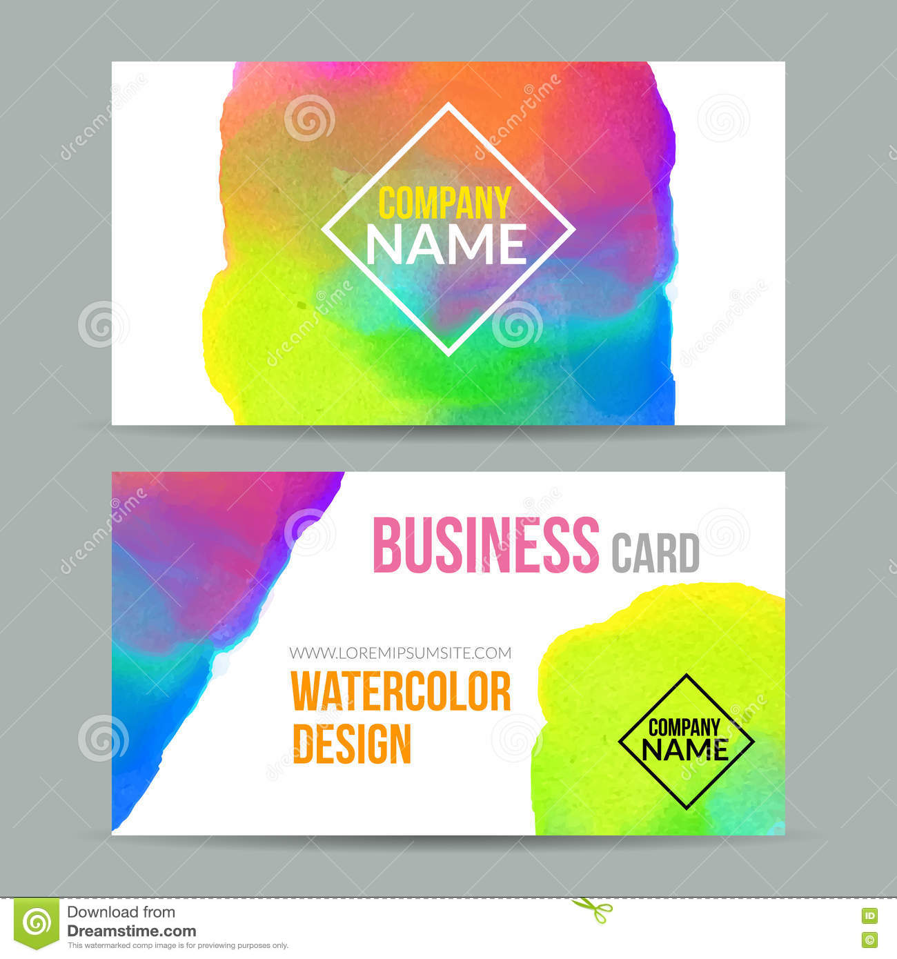 Vector template watercolor business cards stock vector vector business cards template with watercolor paint abstract background business card mockup stock photography flashek Image collections
