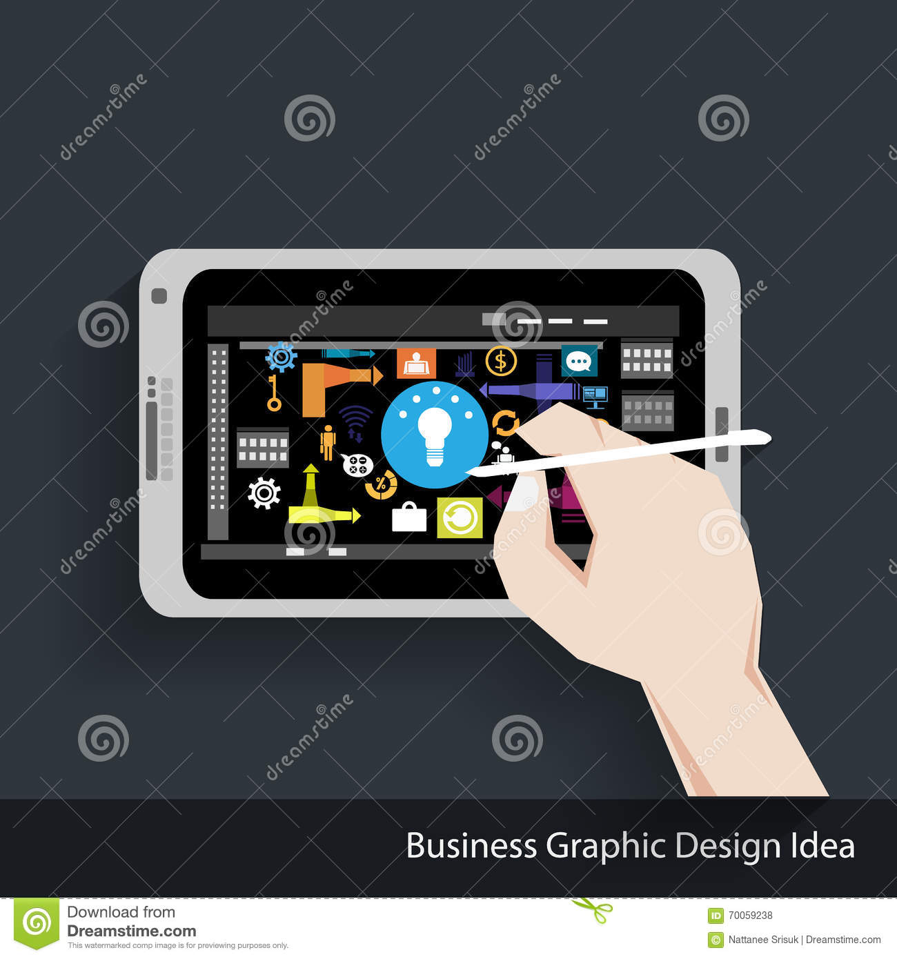 vector business graphic design idea stock vector image 70059238