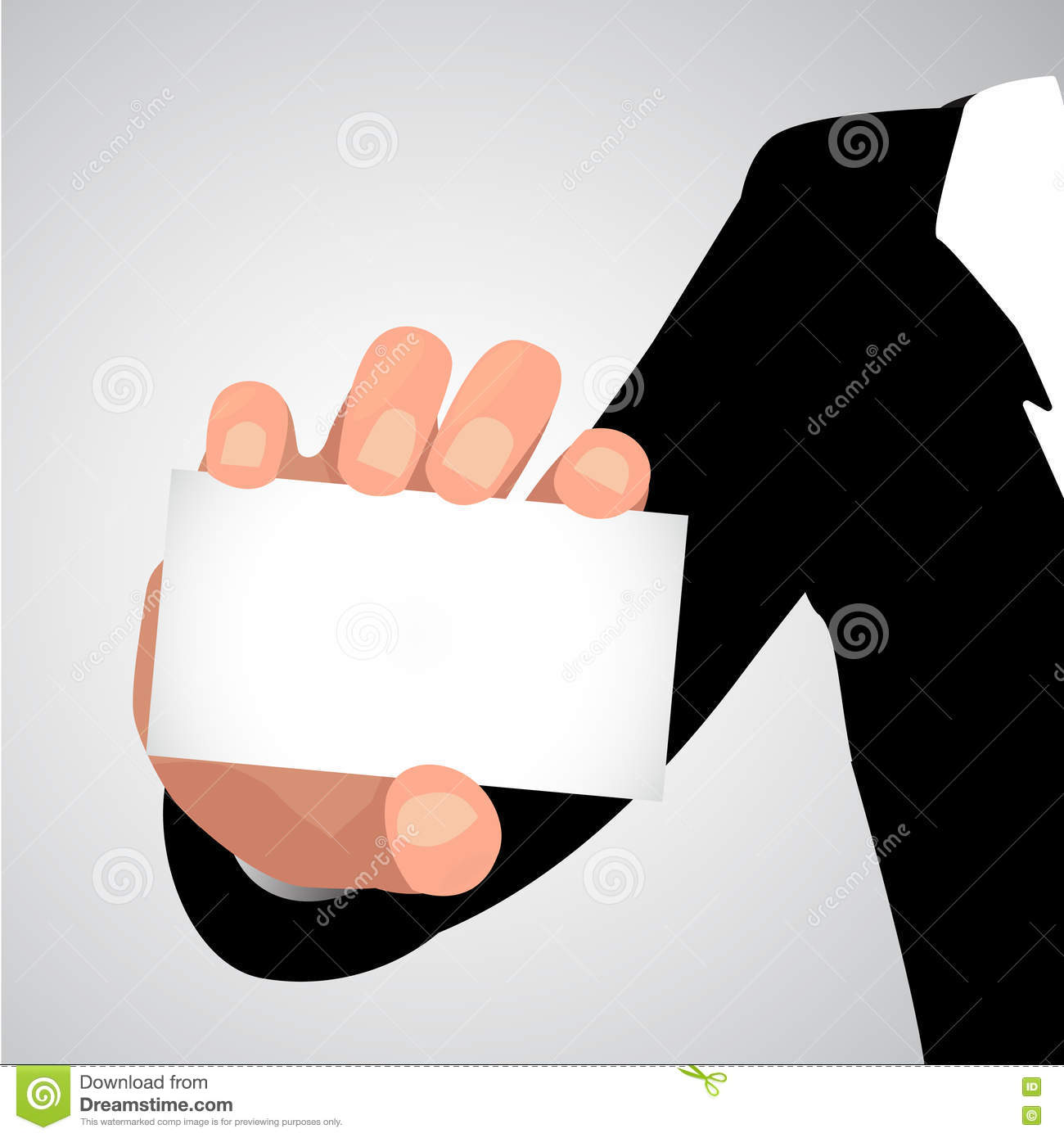 Vector business hands holding id cards in flat style paper vector business hands holding id cards in flat style paper business cards magicingreecefo Image collections
