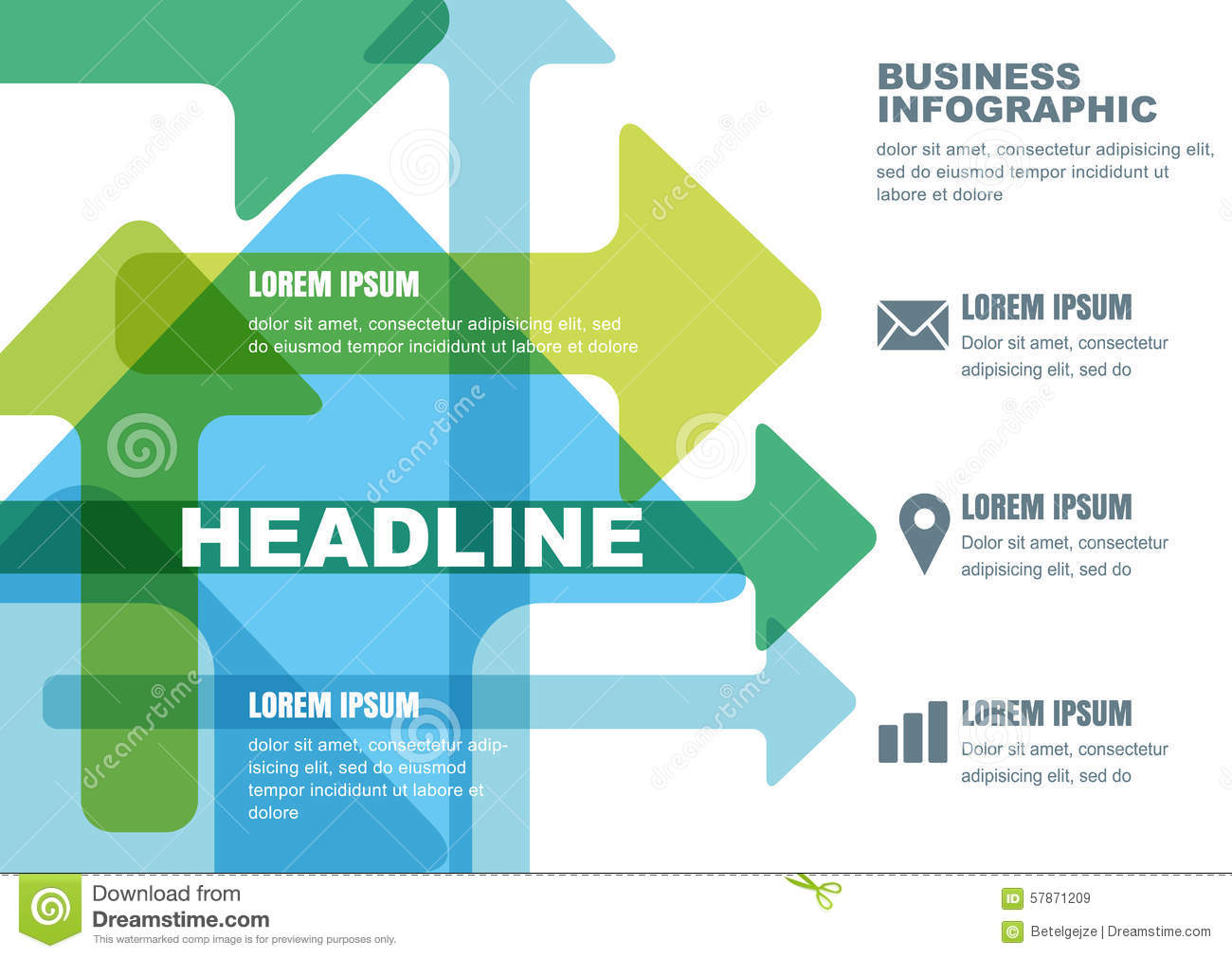 Vector Business Infographic Design. Template For Brochure ...