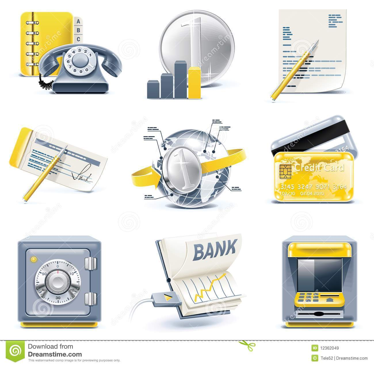 Vector business and office icons. Part 2