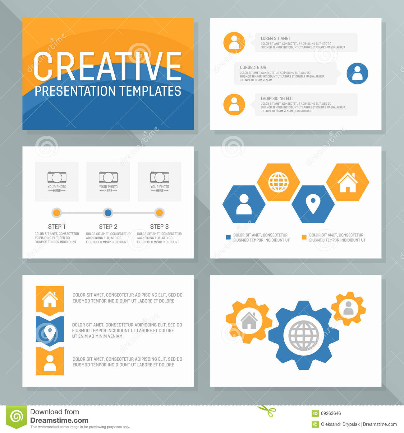 Royalty Free Vector. Download Vector Business Presentation Template ...