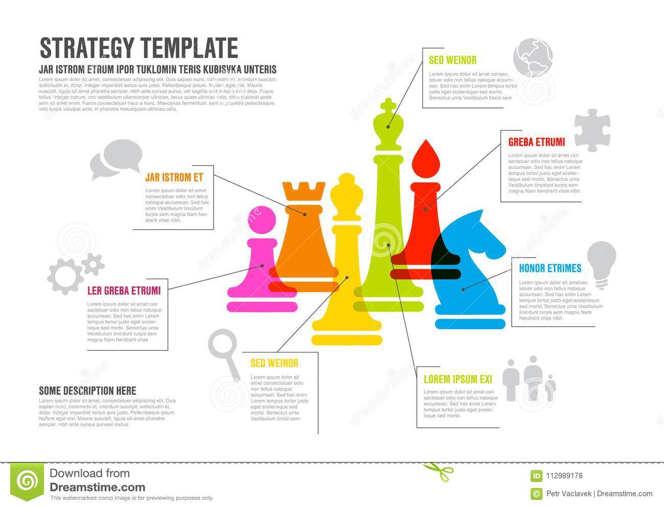 Vector business strategy infographic template infographic