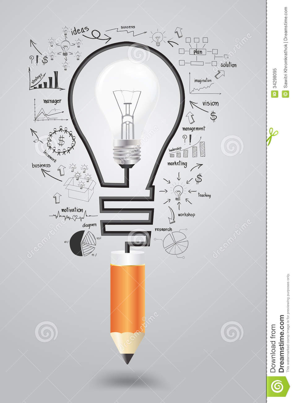 Vector Business Strategy Plan Concept Idea Royalty Free