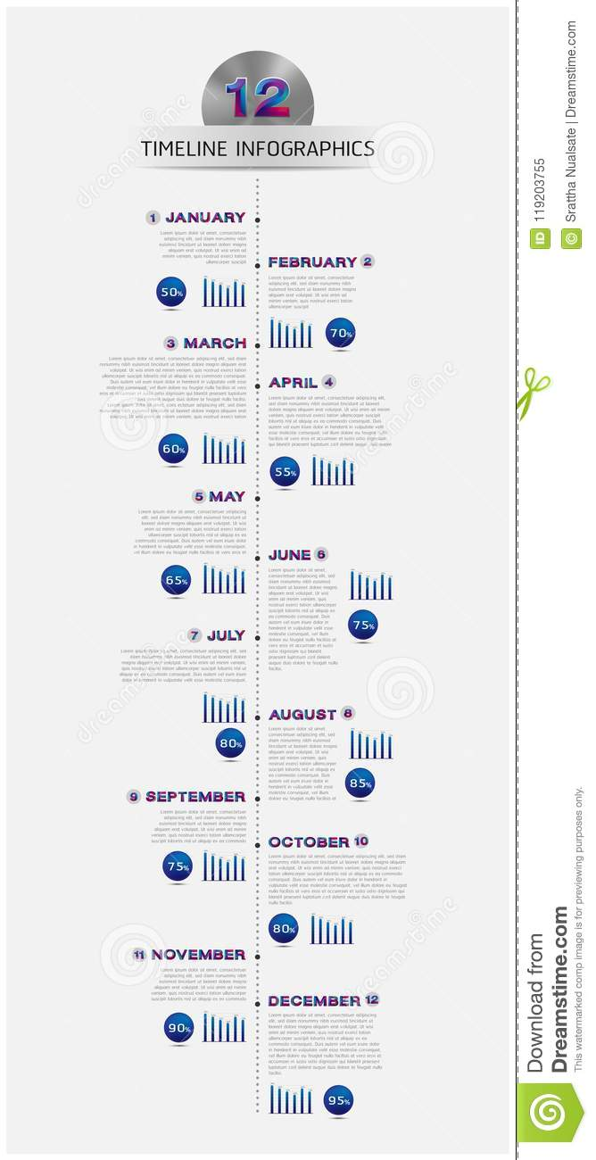 Vector business timeline of the year template for presentation stock vector business timeline of the year template for presentation cheaphphosting Images