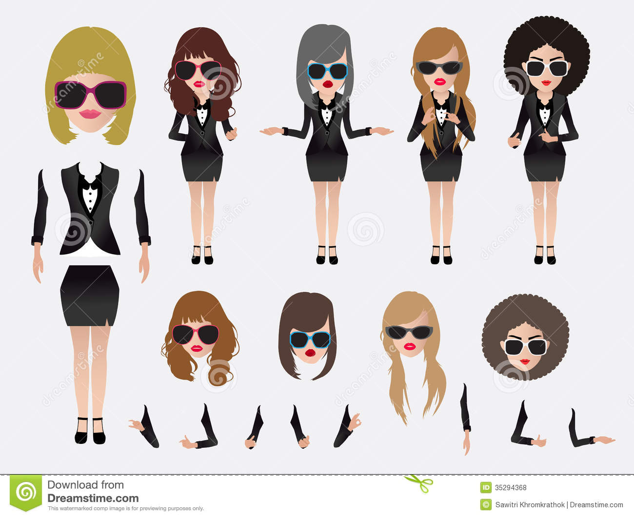 Vector Business Woman Royalty Free Stock Photos Image