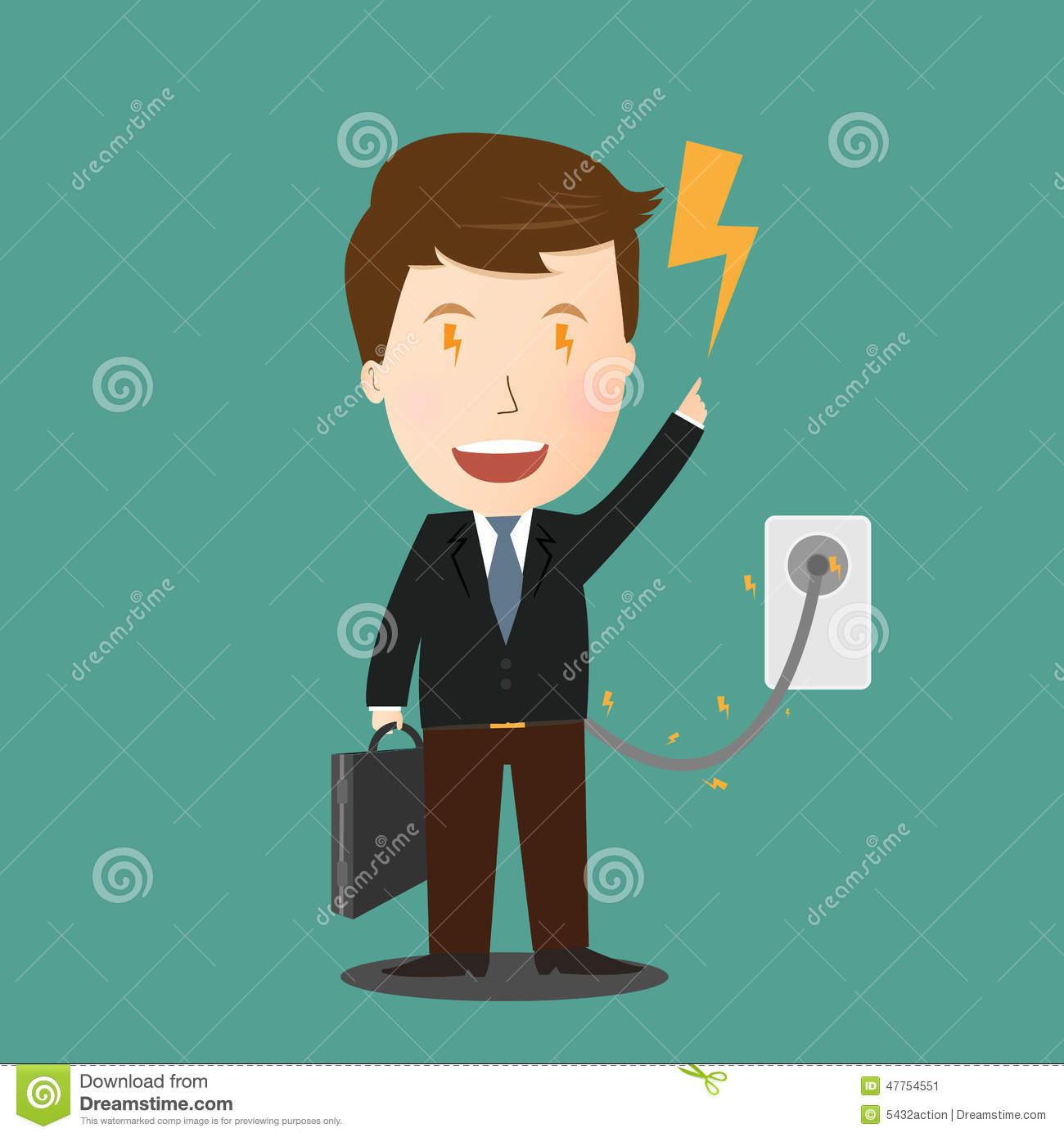 charging for businessman  man in suit and charger