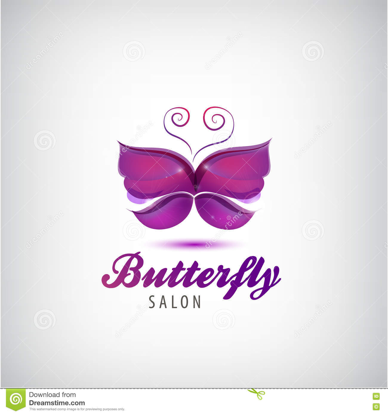Vector butterfly logo spa salon icon stock vector for Abstract beauty salon