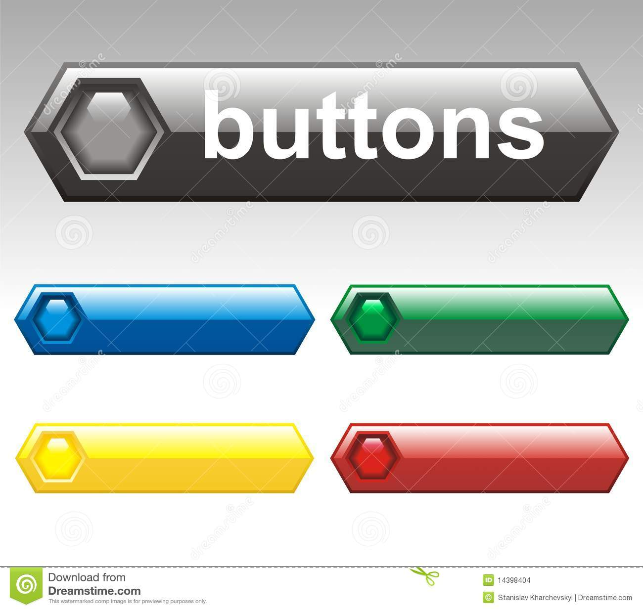 Vector Buttons Stock Images - Image: 14398404