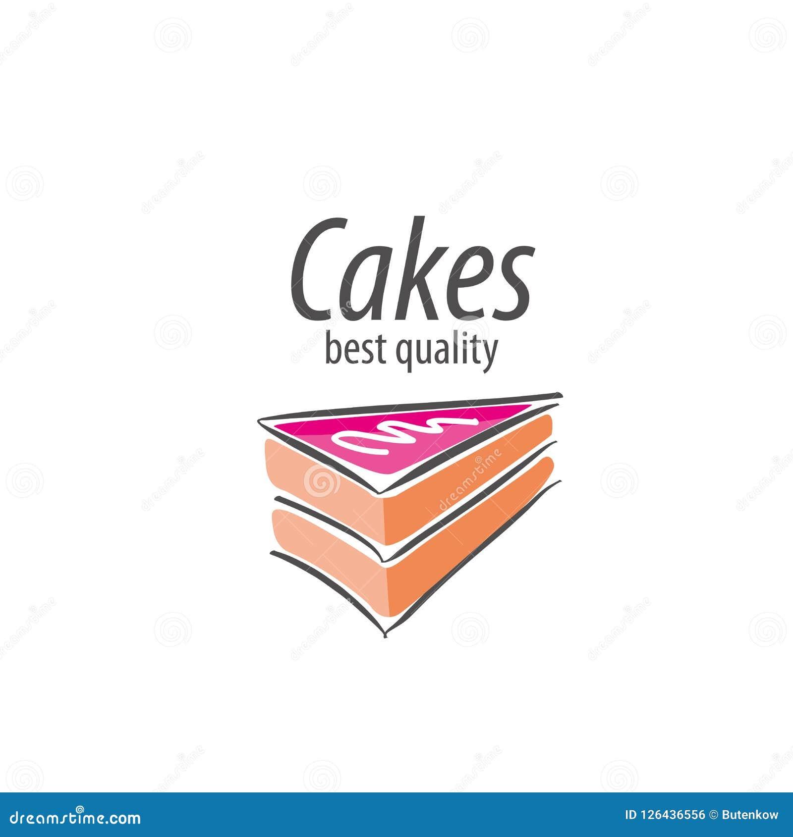 Vector cake logo