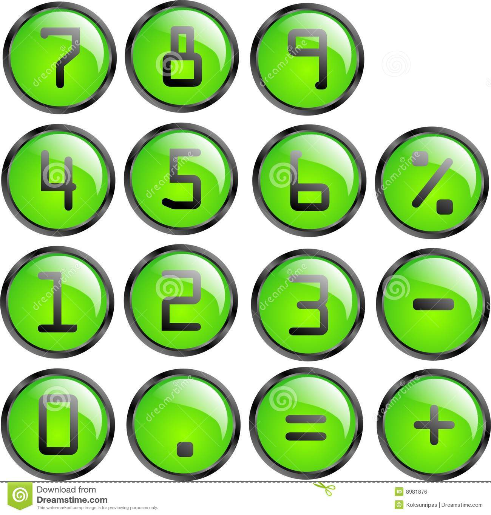 Vector calculator buttons stock vector  Illustration of shine - 8981876