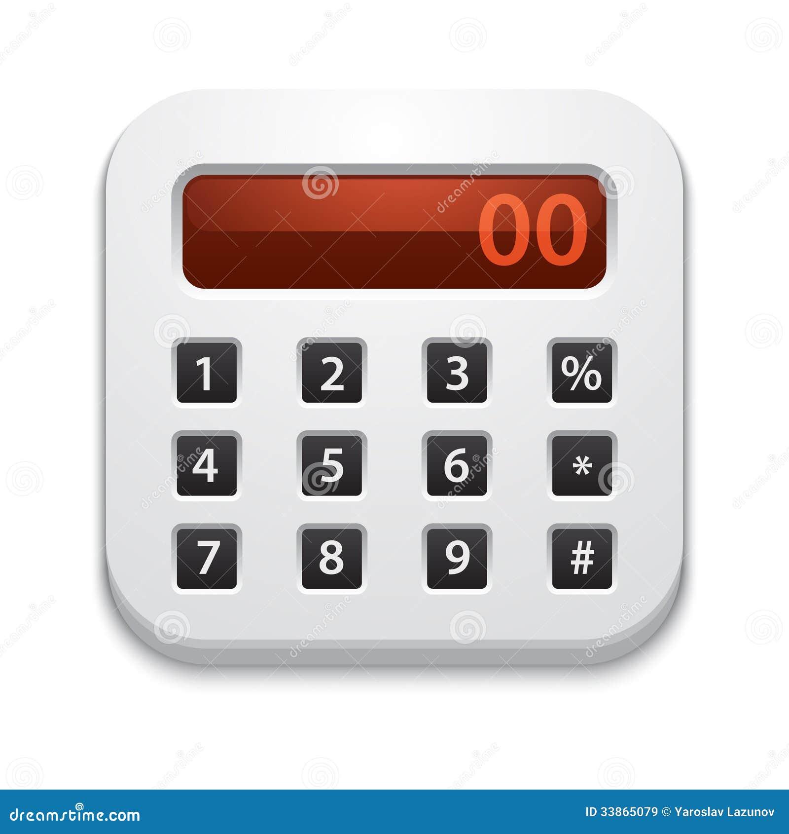 vector calculator icon stock vector illustration of gray 33865079