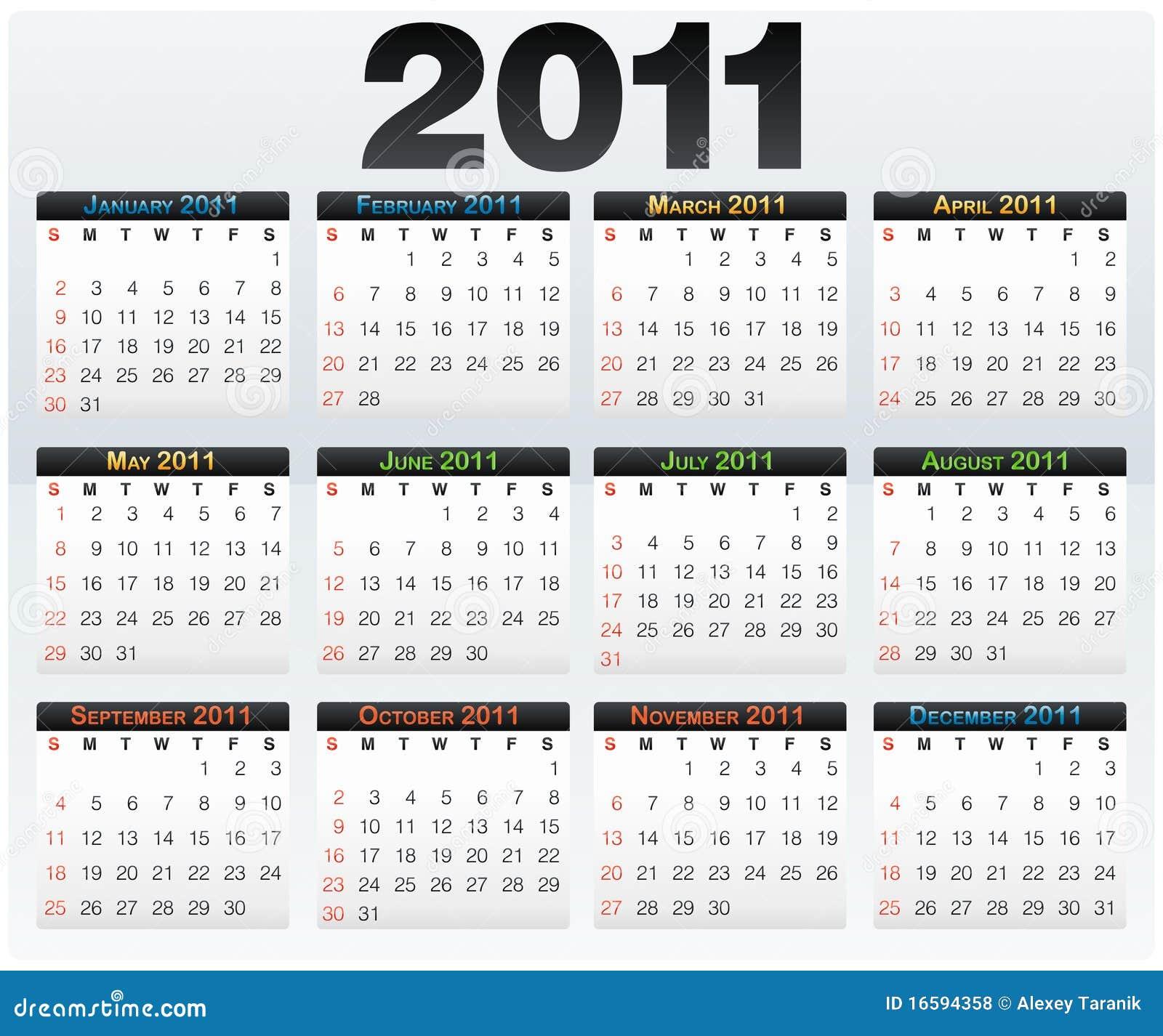 Year Calendar Vector : Vector calendar grid year english stock