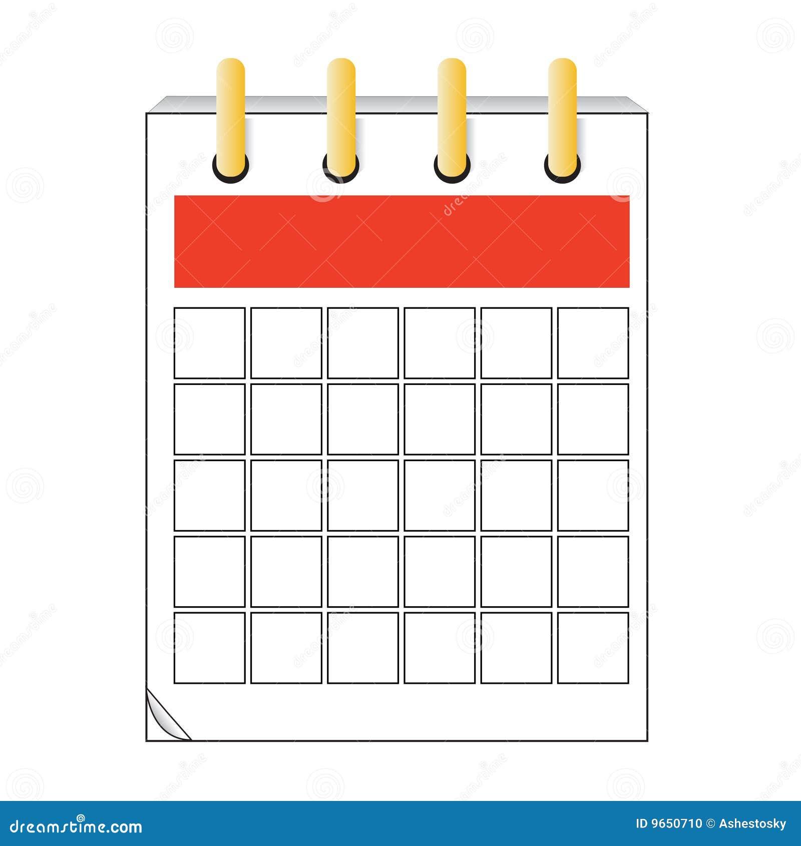 Vector Calendar Icon Design Stock Photo - Image: 9650710