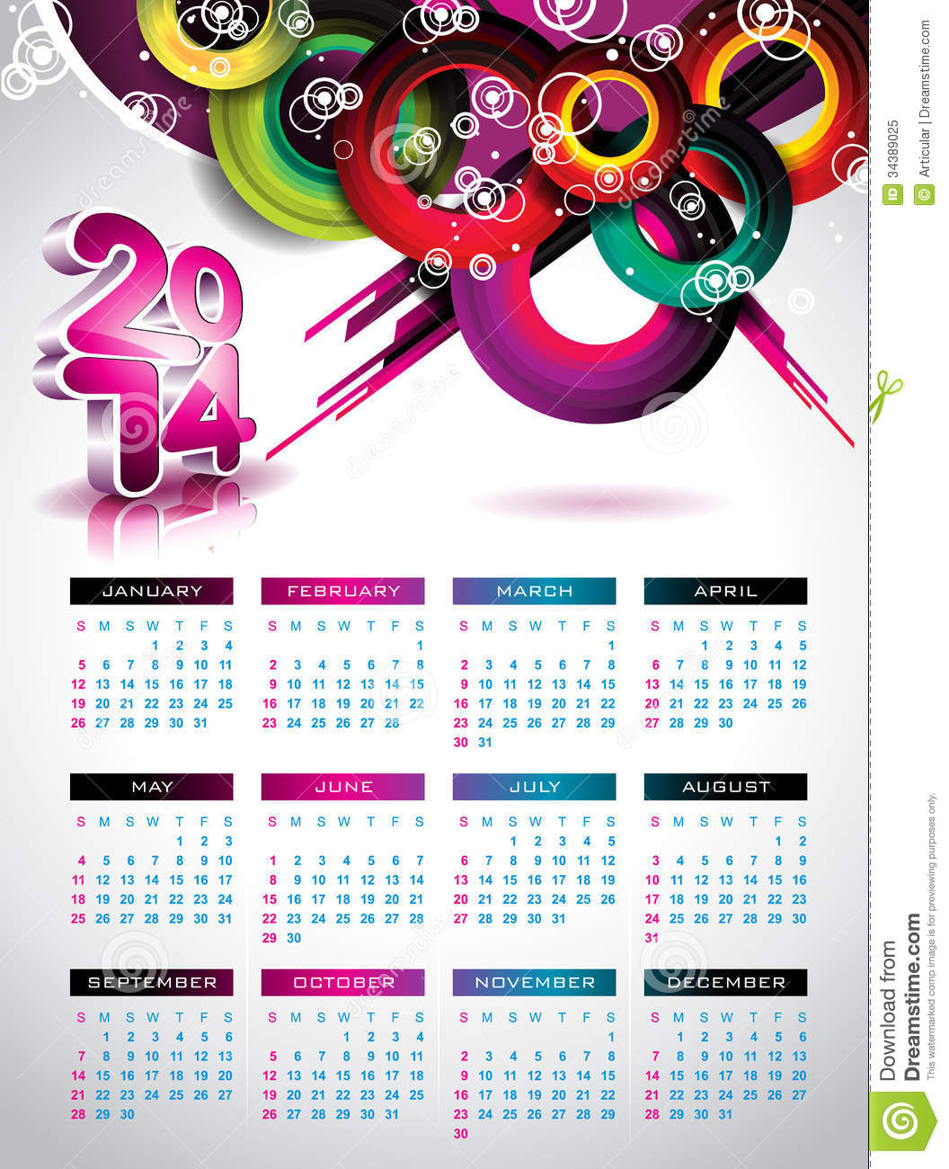 Calendar Month Illustration : Vector calendar illustration stock