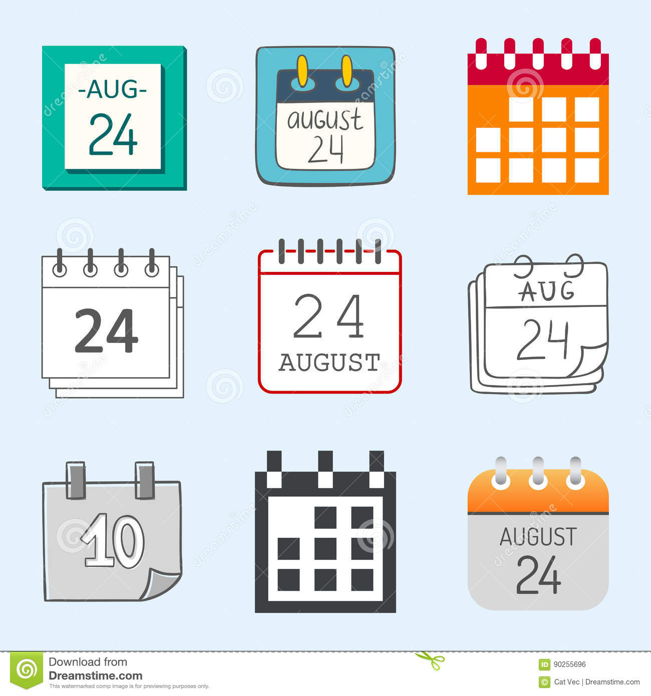 Calendar Web Icon : Vector calendar web icons office organizer business