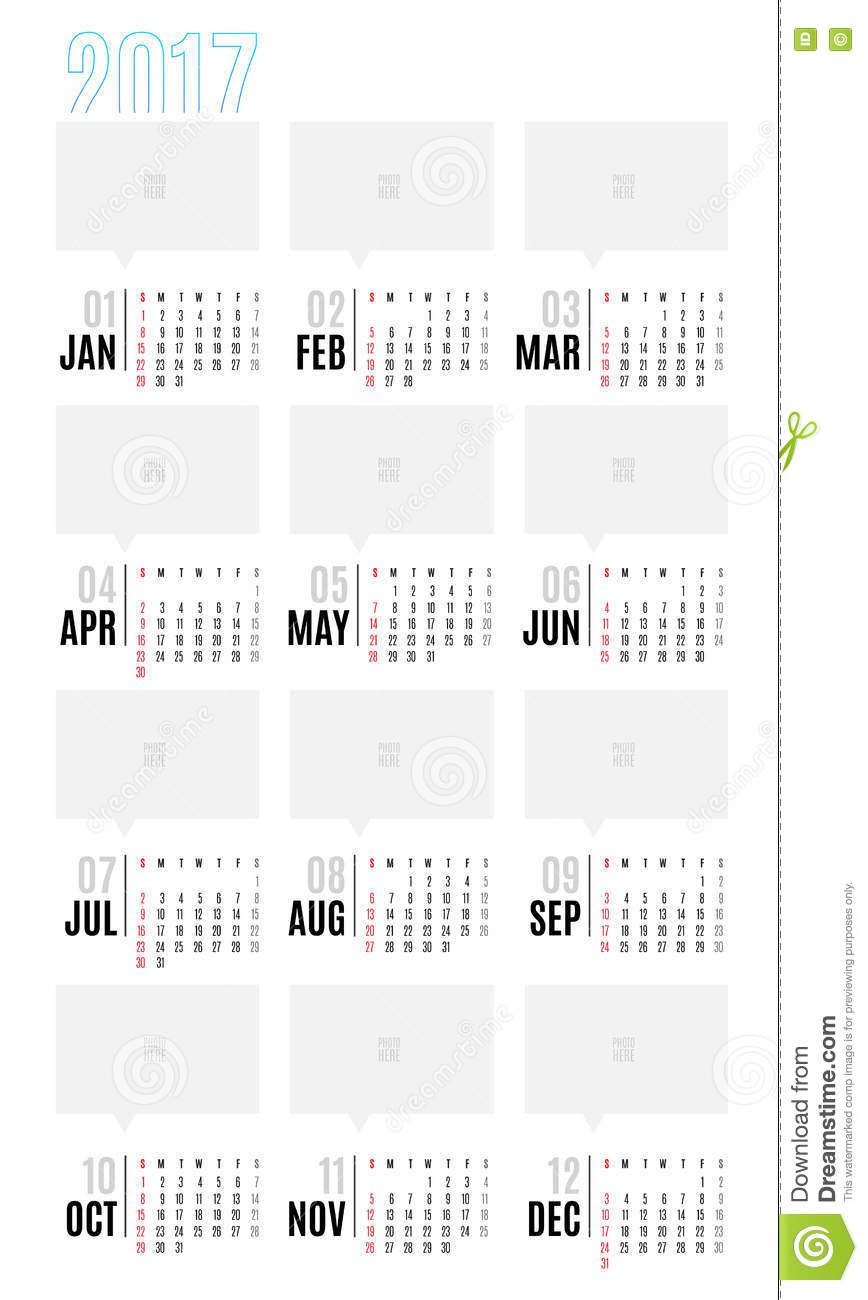 Weekly Calendar Vector : Vector of calendar year month with
