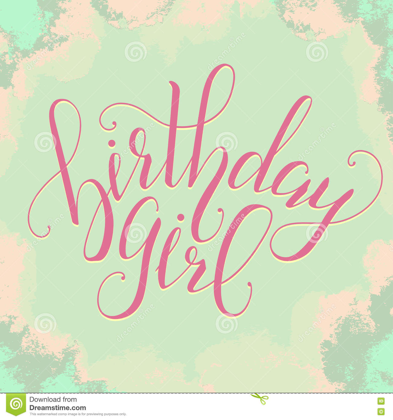 Vector Calligraphy Script Quote Birthday Girl Greeting Card Sign – How to Sign a Birthday Card