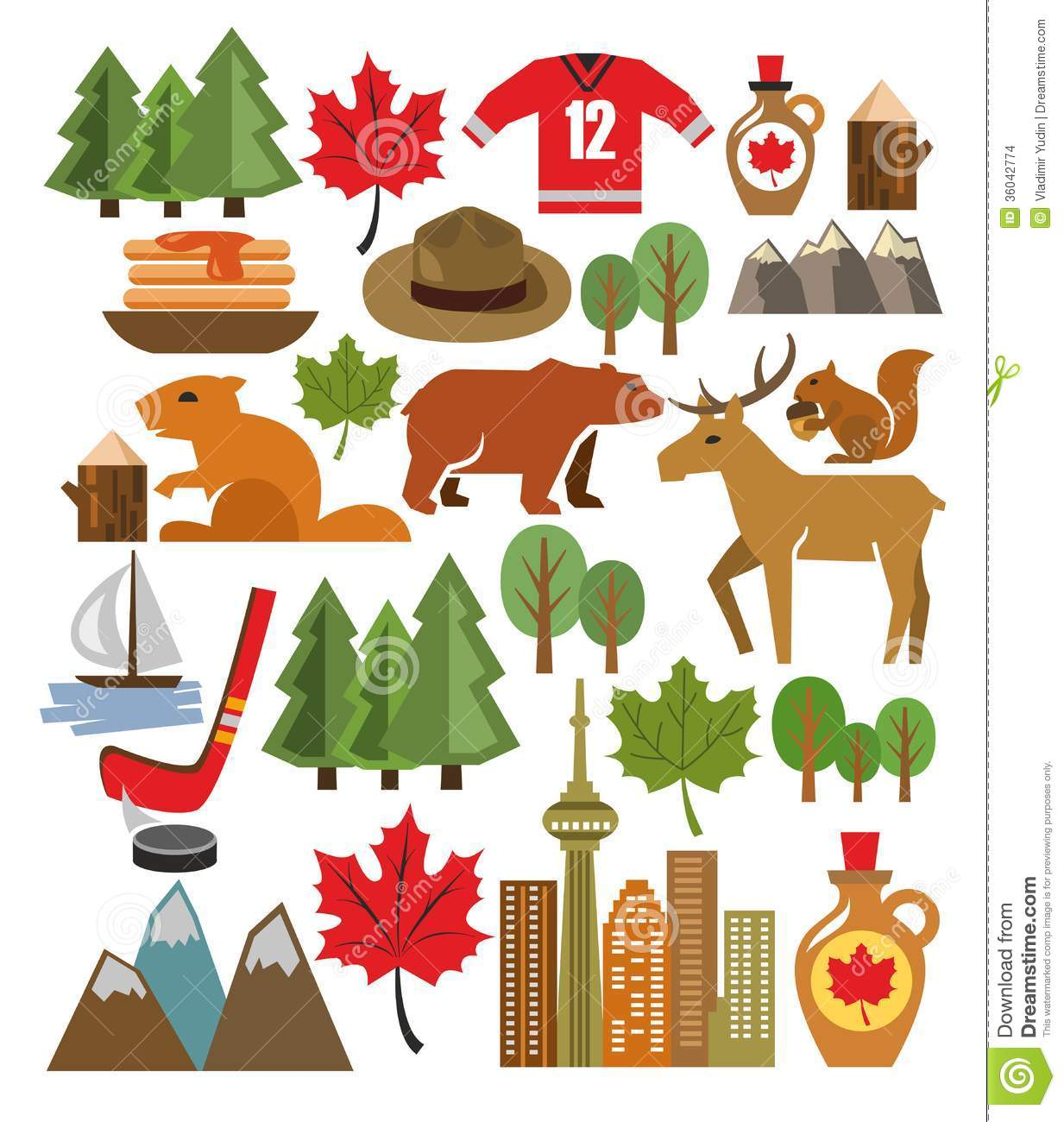 Vector Canada Icon Set Stock Images - Image: 36042774