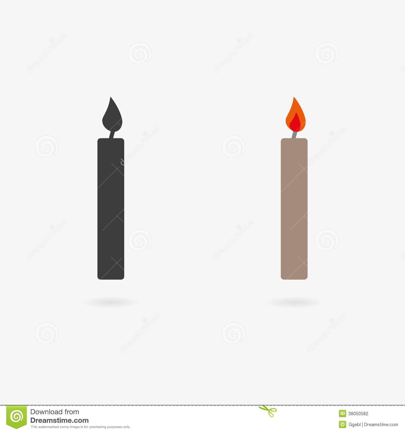 Vector Candle Icon Stock Photography - Image: 38050582