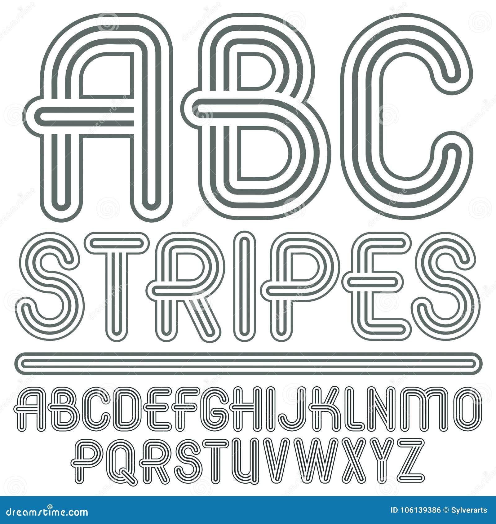 Abc Creation dedans vector capital modern alphabet letters, abc set. trendy font, sc