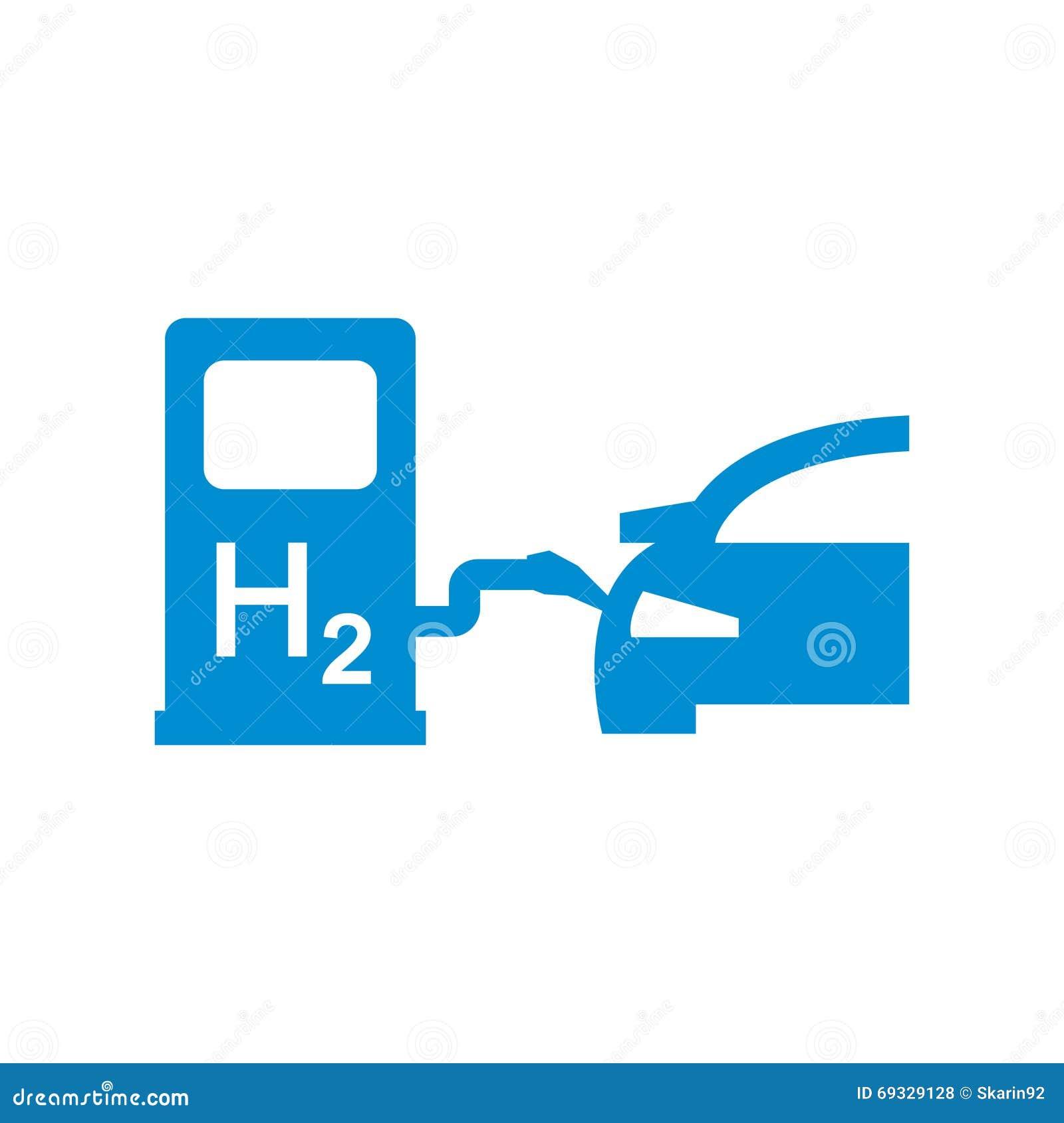 Vector Car Hydrogen Station Icon Stock Illustration ...