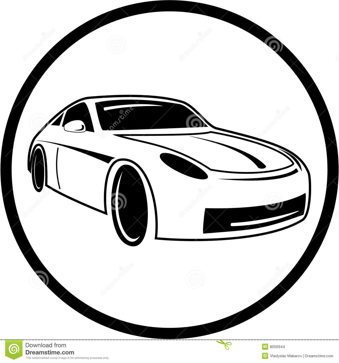 Vector Car Icon Stock Vector. Illustration Of Frame