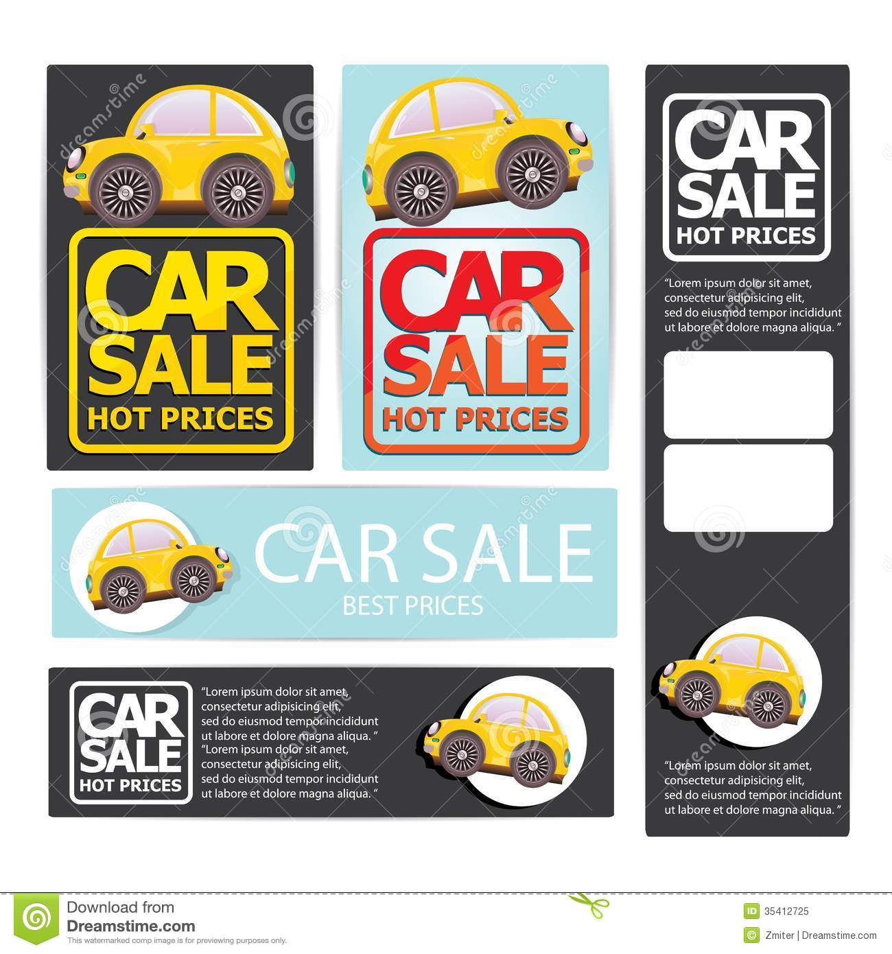 Vector Car Sale Design Template With Car Stock Vector Image Vector Car Sale  Design Template Car  Car Sale Sign Template
