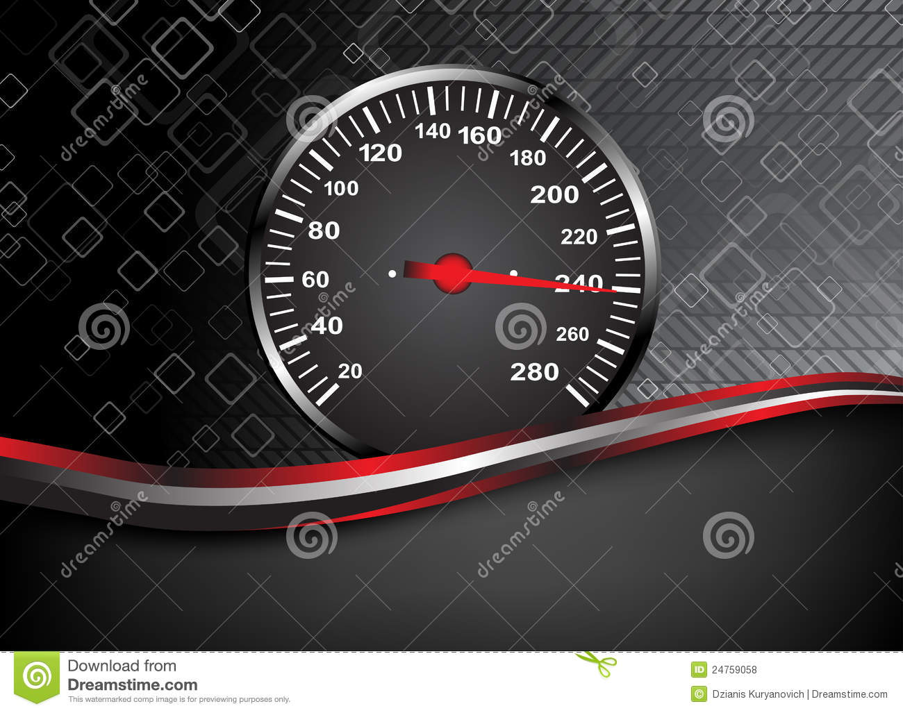 Vector Car Speedometer Abstract Background Royalty Free