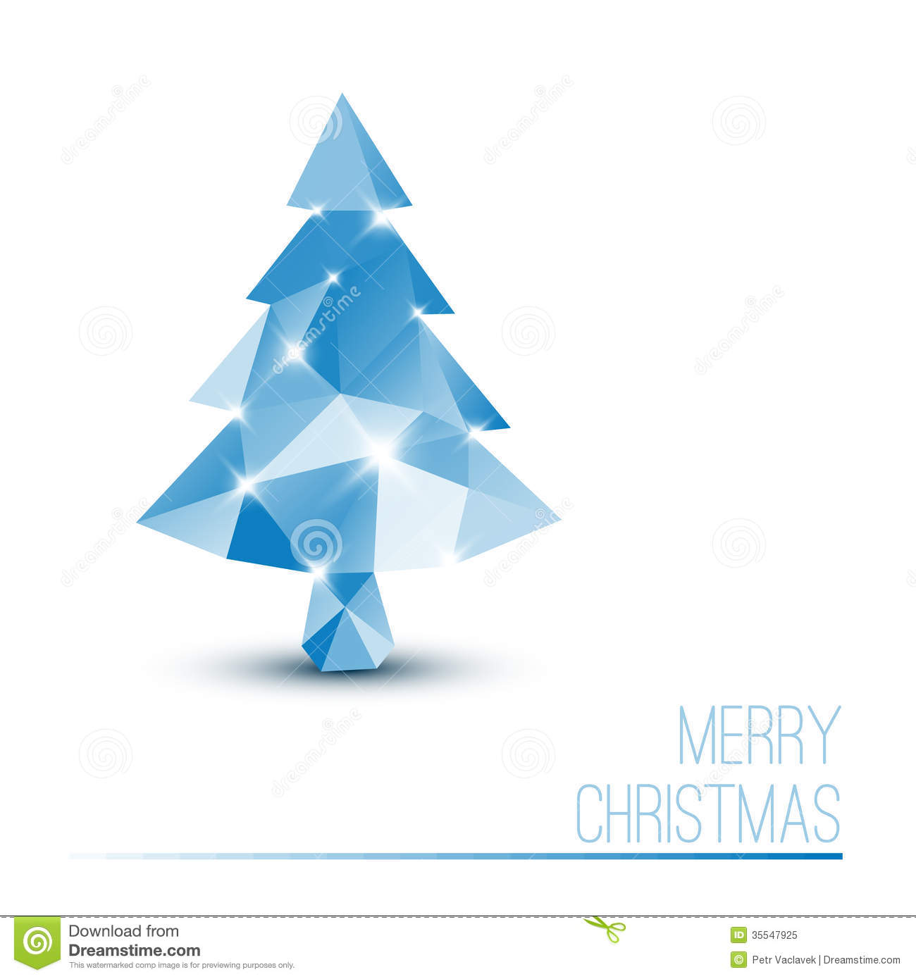 royalty free stock photo download vector card with abstract blue christmas tree - Blue Christmas Tree