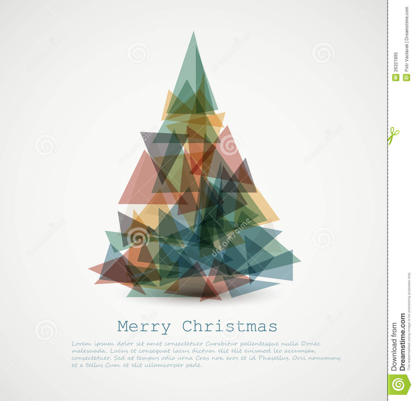 royalty free stock photo download vector card with abstract retro christmas tree - Retro Christmas Tree