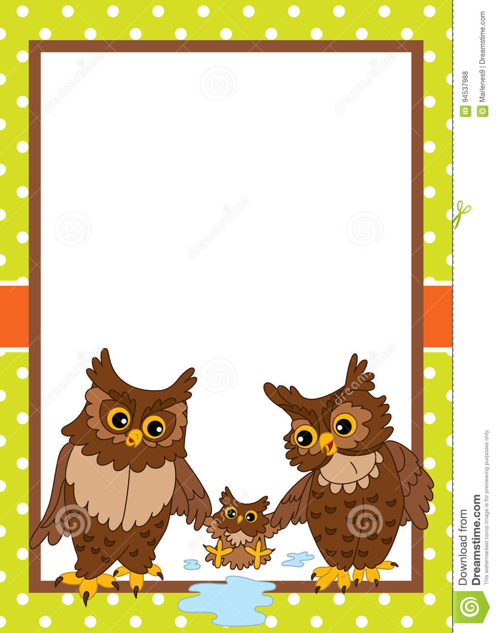 vector card template with cute owls vector owls stock vector