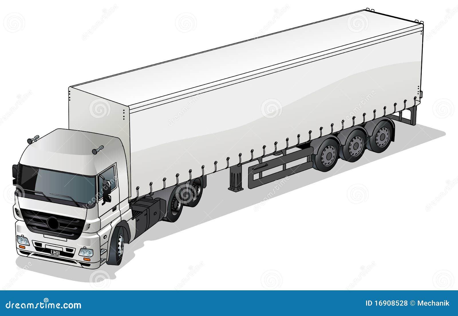 Vector cargo semi-truck stock vector. Illustration of ...