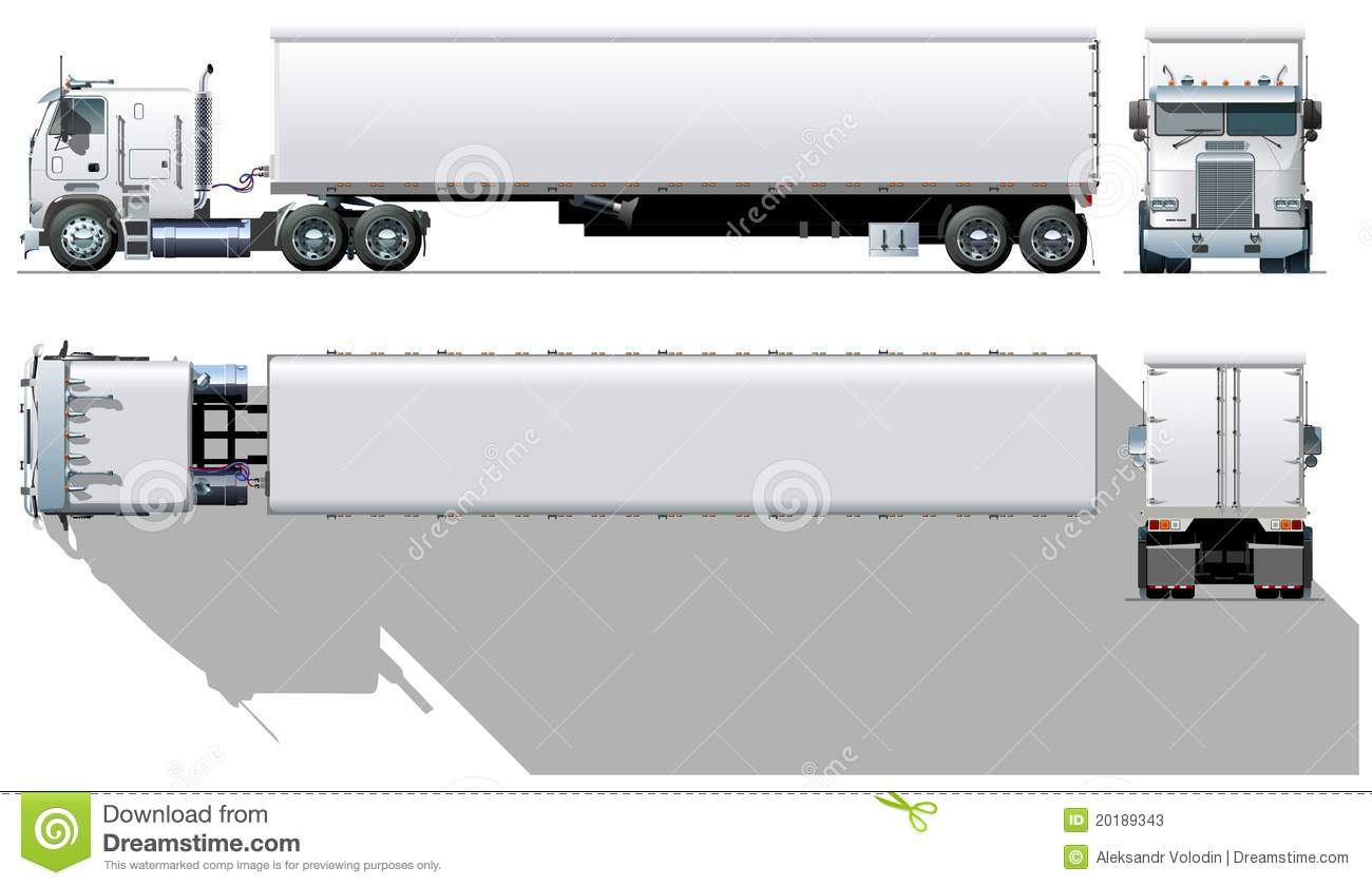 Vector Cargo Semi Truck Stock Photos Image 20189343