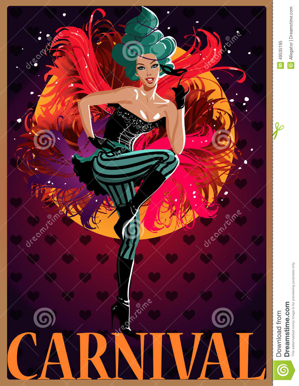 Vector Carnival Poster Stock Vector - Image: 49535195 X 23 Costume